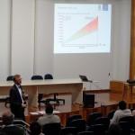 O palestrante falou sobre as tendências para os próximos 10 anos
