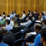 Setenta e sete pessoas inscritas assistiram à palestra