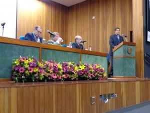 Lucas Moscato, Paulo Kaminski, Ronaldo Salvagni e Antonio Megale prestigiaram os alunos