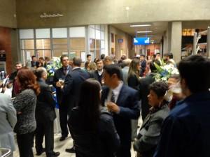 Após a cerimônia, o CEA ofereceu um coquetel aos alunos e convidados