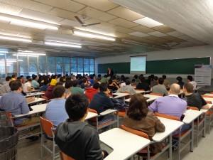 A sala ficou lotada: 81 participantes